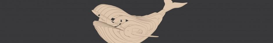 3D модель сборного кита из фанеры