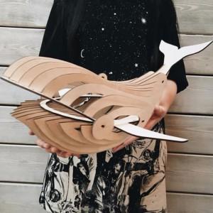 Сборная 3D модель кита