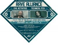 Постер и флаер для мероприятия RAVE ALLIANCE