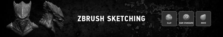 ZBrush Sketching