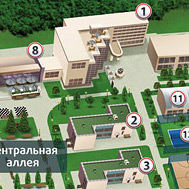 Схема территории «Артурс Spa Отеля» в изометрии