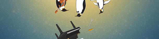Афиша с пингвинами