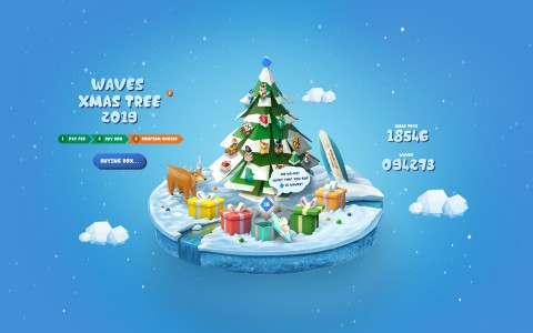 waves xmas tree