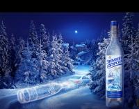 Водка «Зимняя дорога». Снежная бутылка