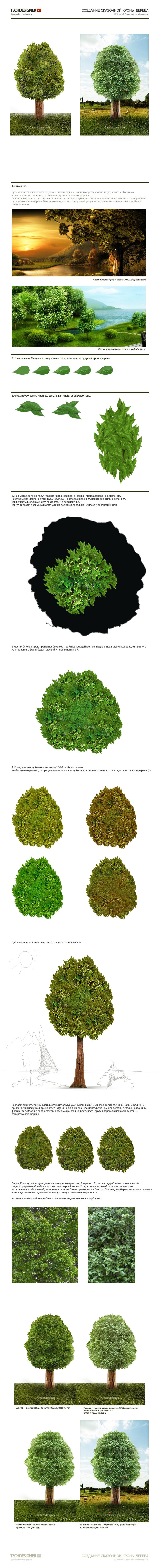 Создание кроны сказачного дерева