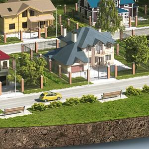 Жилой район иллюстрация для сайта
