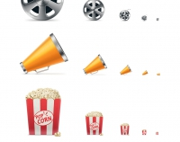 Movie Icon set. Бесплатный набор иконок.