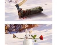 Новый год: нло, зайцы, топоры!