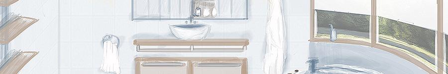 Набросок ванной комнаты