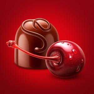 Иллюстрации для конфет «Вишня в ликере»