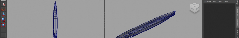 Ship modeling in Maya