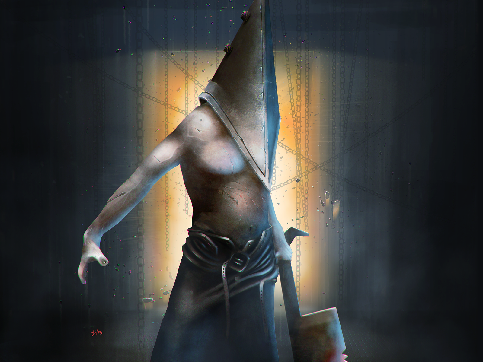Red pyramid thing