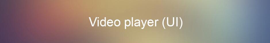 Video player (UI)