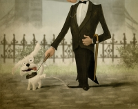 Mr.Groomed and his dog