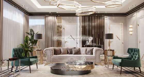 Элитный дизайн квартиры в стиле ар-деко