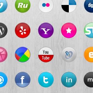 42 иконки социальных сетей