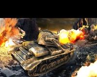 Matte Painting для триде модели танка