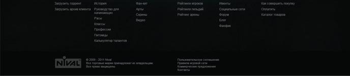 Задача студии Nineseven — разработать дизайн сайта для популярной игры Forsaken World компании Nival.