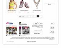 Дизайн интернет магазина Stylist – одежда, обувь и аксессуары. Израиль, г. Ришон-ле-Цион