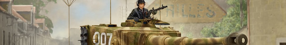 Tiger I late production (box art for RYE FIELD MODEL)