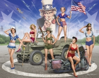 U.S. pin-up girl