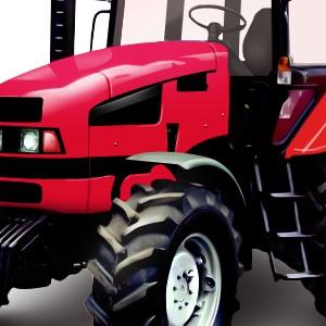 Отрисовка-обработка трактора
