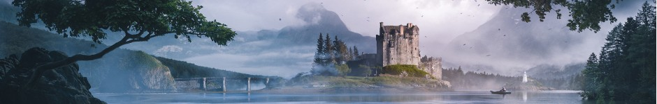 Eilean Donan Castle matte painting + Making of