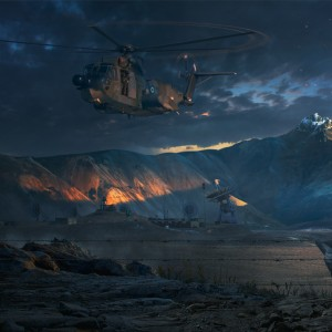 Military Base Matte painting + Making of