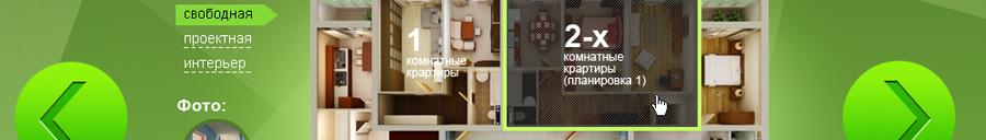 Дизайн сайт жилого комплекса