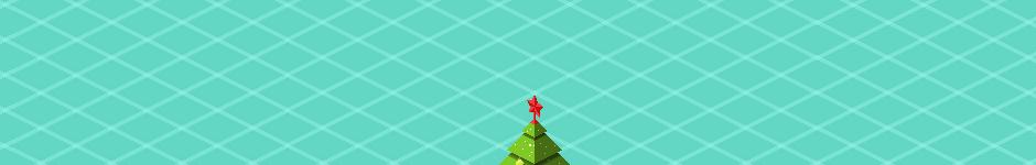 Пиксель-елка для новогоднего леса на ревижине