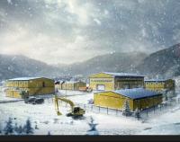Вахтовый поселок на Алтае