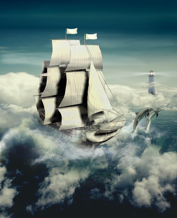 В облаках...