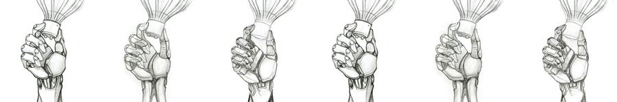 концептил киберкисть руки