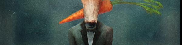 Лис с морковкой нр.3