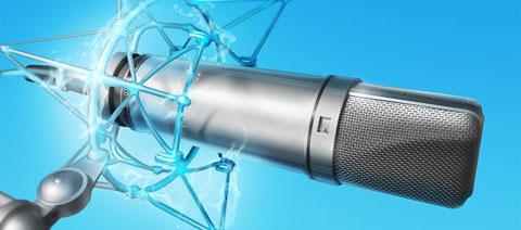 Микрофон с огоньками