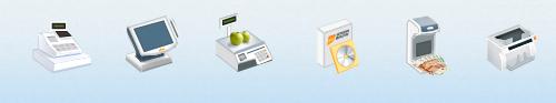 Икон сет для сайта поставщика торгового оборудования
