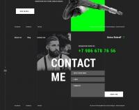 Дизайн сайта портфолио для Антона Боброва