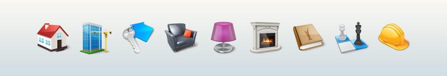 Иконки для портала недвижимости