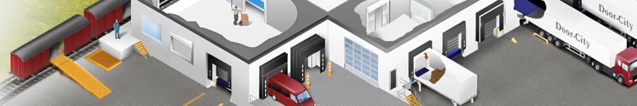 Иллюстрация для компании  в сфере установки немецких, промышленных дверей.