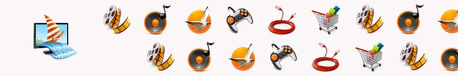 Иконки для разделов Электронного Города, cn.ru