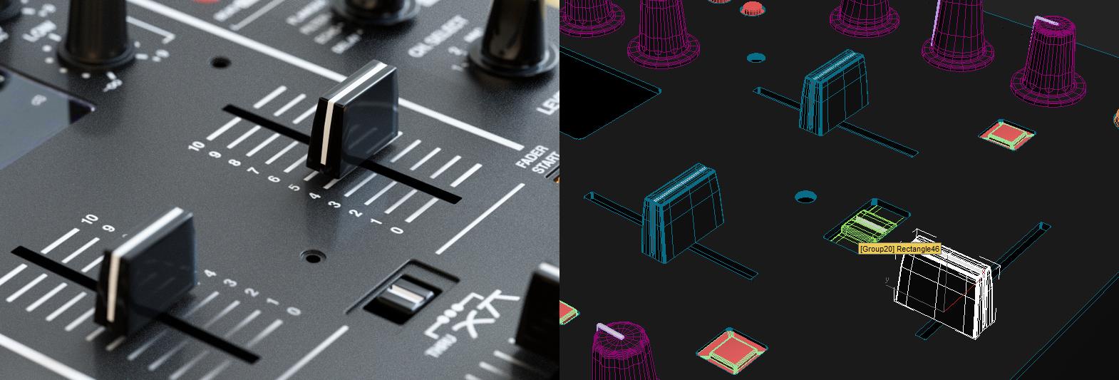 DJM400 – двухканальный микшер