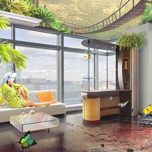 Иллюстрация к сайту 3D потолков
